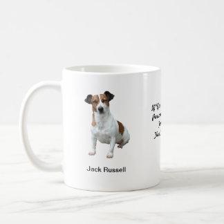 Caneca de Jack Russell - com duas imagens e um