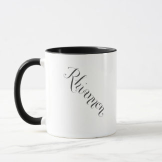 Caneca de Rhiannon em preto e branco