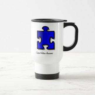 Caneca de viagem do apoio da consciência do autism