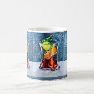Caneca de vidro da fruta