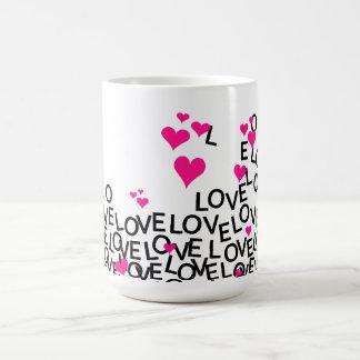 Caneca do amor do dia dos namorados