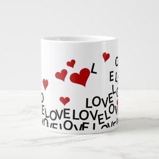 Caneca do amor do dia dos namorados canecas de café muito grande