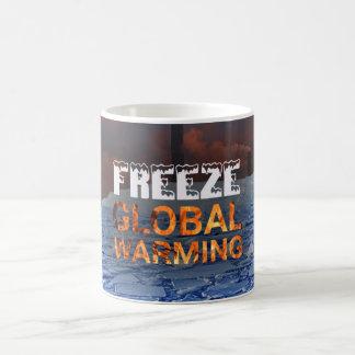 Caneca do aquecimento global do gelo