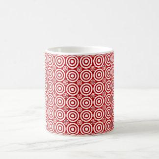 Caneca do Bullseye do alvo, o vermelho e o branco