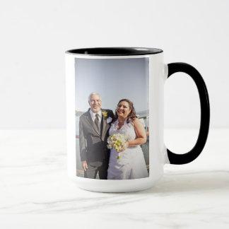 Caneca do casamento de Anna & de Michael