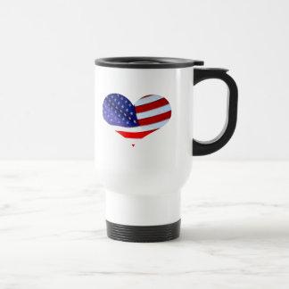 Caneca do coração da bandeira americana