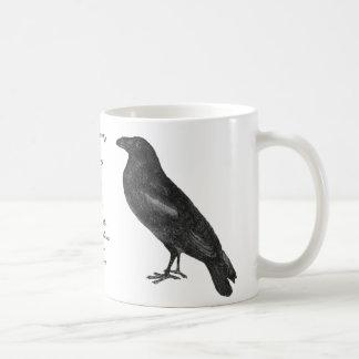 """Caneca do """"corvo"""" de Edgar Allan Poe"""