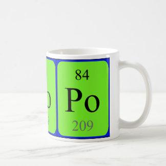 Caneca do elemento 84 - polónio
