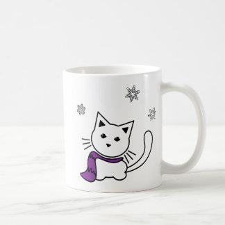 Caneca do gatinho do inverno