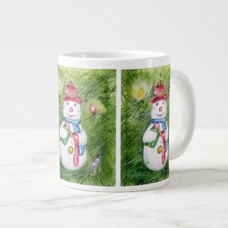 Caneca do jumbo do boneco de neve da árvore de Nat Jumbo Mug