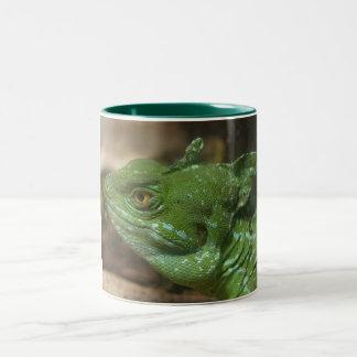 Caneca do lagarto verde