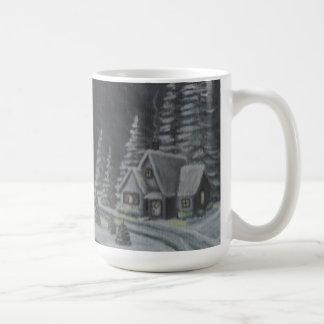 Caneca do país das maravilhas do inverno