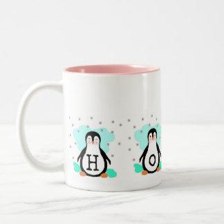 Caneca do pinguim da ESPERANÇA