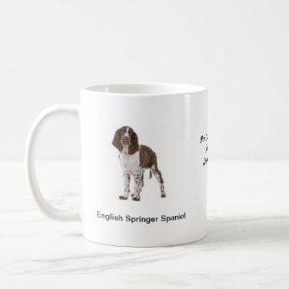 Caneca do Spaniel de Springer - com duas imagens e