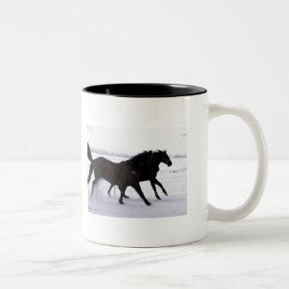 Caneca dos cavalos do inverno