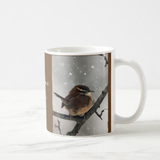 Caneca dos pássaros do inverno:  Carriça de