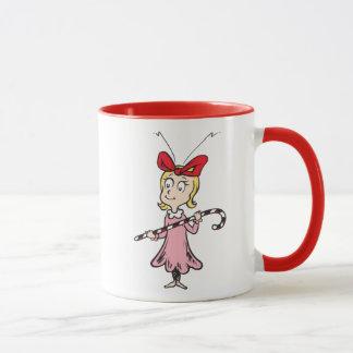 Caneca Dr. Seuss | Cindy-Lou que - guardarando o bastão