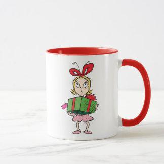 Caneca Dr. Seuss | Cindy-Lou que - guardarando o presente