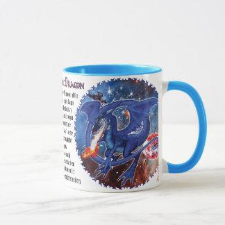 Caneca Dragão cósmico de Azurite