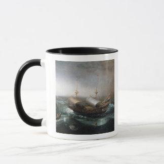 Caneca Embarcações mercantes holandesas e um Smalschip