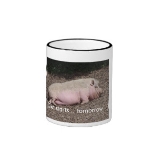 Caneca engraçada do porco