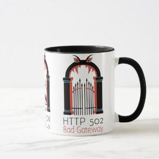 Caneca Entrada do mau do HTTP 502