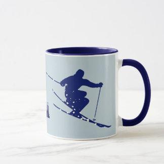 Caneca Esquiador do azul de Vail