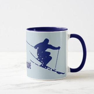 Caneca Esquiador do azul do Telluride