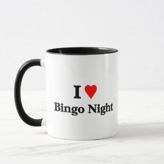 Caneca Eu amo a noite do bingo