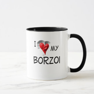 Caneca Eu amo meu Borzoi