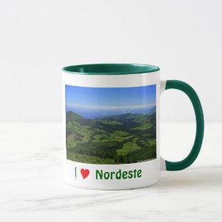 Caneca Eu amo Nordeste - Açores