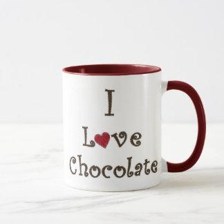 Caneca Eu amo o chocolate