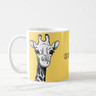 Caneca feliz do girafa