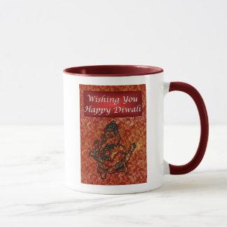 Caneca Festival de Diwali de luz indiano com Ganesha