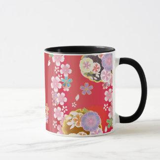 Caneca Flores japonesas - flor de cerejeira/Sakura