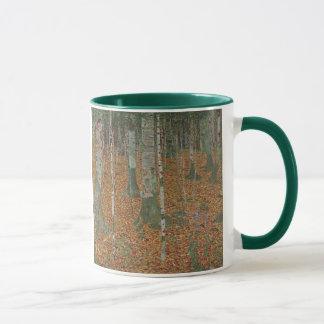 Caneca Floresta do vidoeiro por Gustavo Klimt, arte