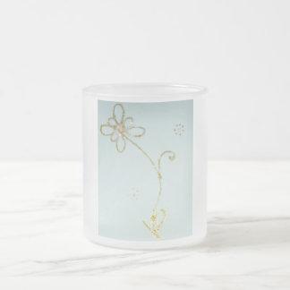 Caneca gelado de Beatyful com teste padrão de flor