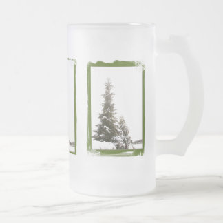 Caneca gelado dos Evergreens do inverno