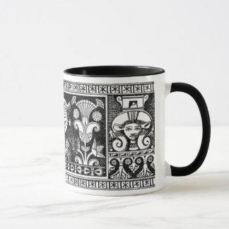 Caneca Hathor e rainha com a coroa do abutre de Nekhbet