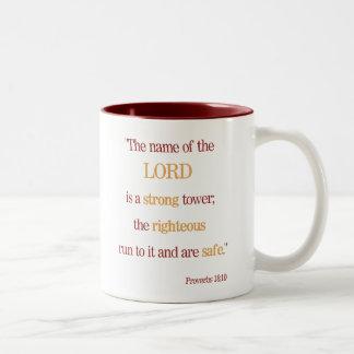 Caneca inspirada do 18:10 dos provérbio das bênção