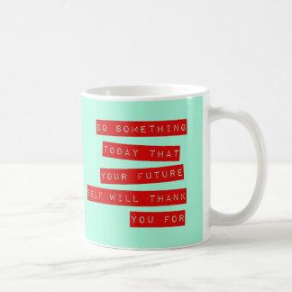 Caneca inspirador das citações: Vermelho &