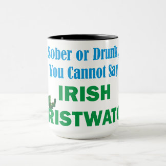 Caneca irlandesa do relógio de pulso