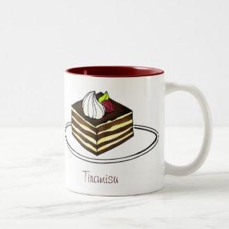 Caneca italiana do Tiramisu da pastelaria do café