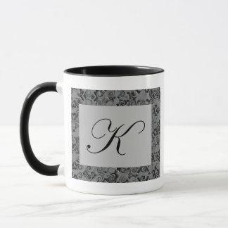 Caneca Letra K do monograma