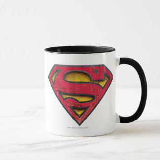 Caneca Logotipo afligido | do S-Protetor do superman