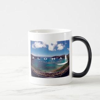 Caneca Mágica Aloha surfar de Havaí da baía de Hanauma