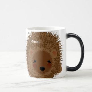 Caneca Mágica Ilustração pequena bonito do ouriço da floresta