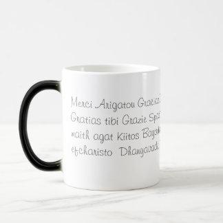 Caneca Mágica Obrigado em diversas línguas
