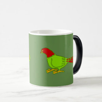 Caneca Mágica pássaros verdes