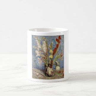 Caneca Mágica Van Gogh - vaso com tipos de flor e ásteres de